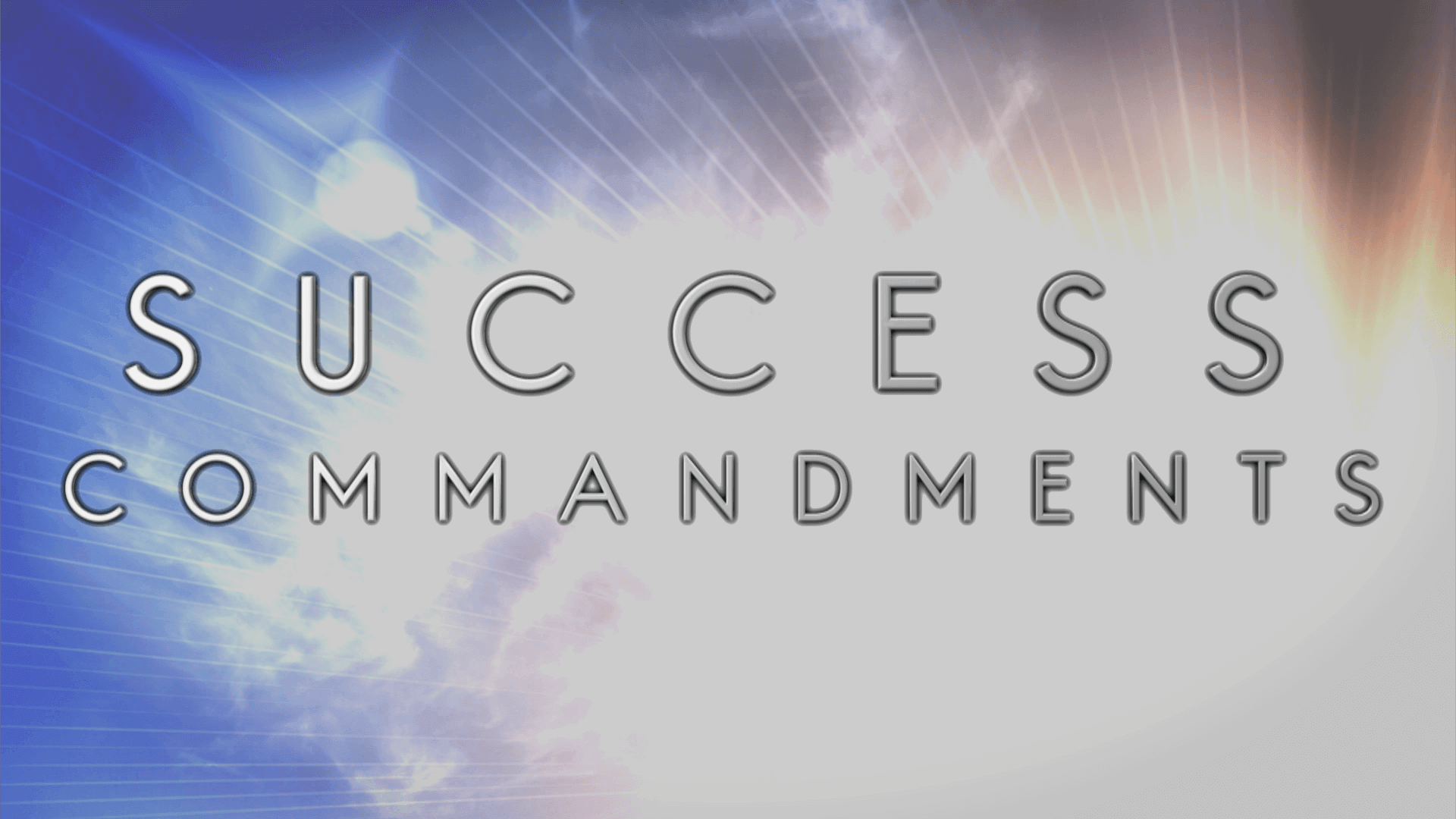 SUCCESS COMMANDMENTS TRAILER